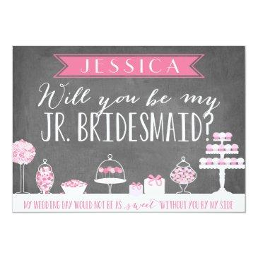 Small Will You Be My Junior Bridesmaid | Bridesmaid Invitationss Front View