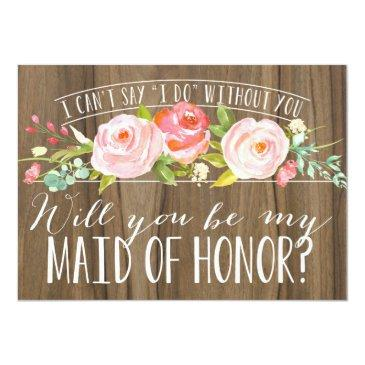Small Will You Be My Maid Of Honor | Bridesmaid Front View