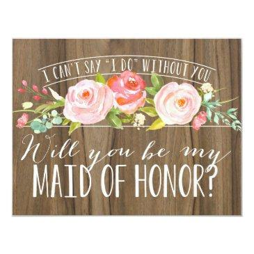 will you be my maid of honor | bridesmaid invitations