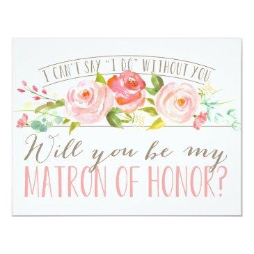 will you be my matron of honor | bridesmaid