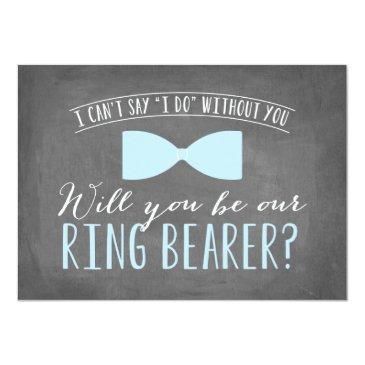 Small Will You Be My Ring Bearer ? | Groomsmen Invitation Front View
