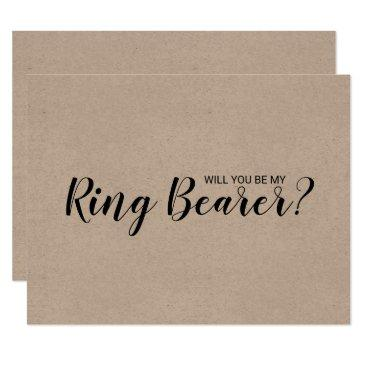 will you be my ring bearer? rustic kraft paper