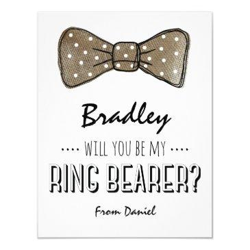 will you be my ring bearer? | rustic wedding
