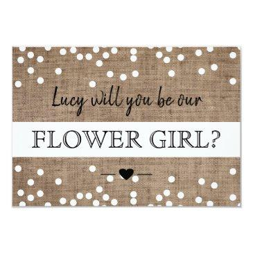 will you be our flower girl