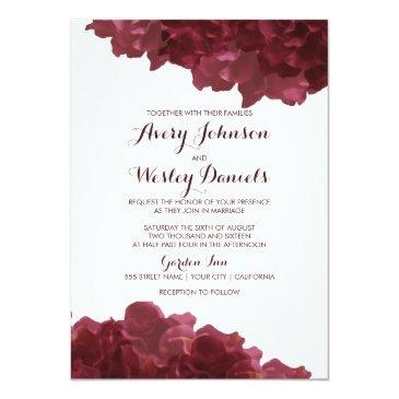 wine colored floral wedding