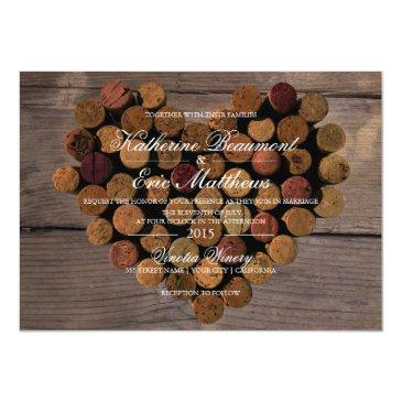 Small Wine Cork #2 Rustic Wedding Invitations Front View