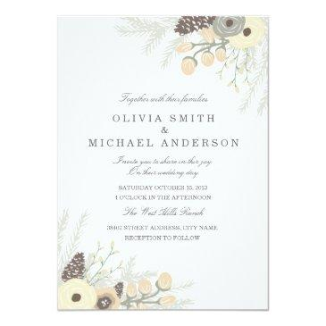 winter foliage wedding