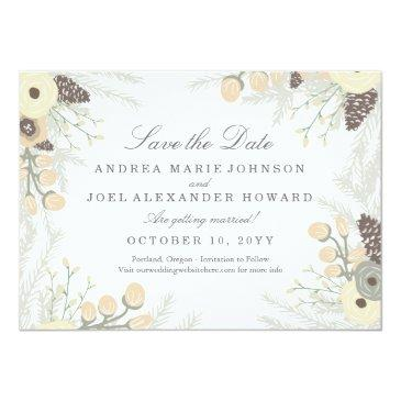 winter foliage wedding save the date
