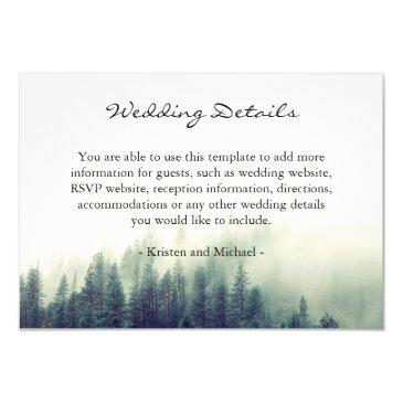 winter forest pine trees wedding details reception