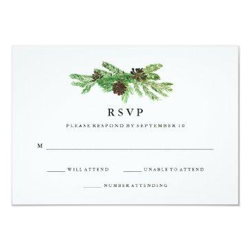 winter pines wedding rsvp