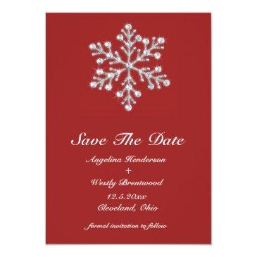 winter snowflake save the date