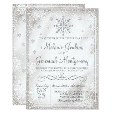 winter wonderland snowflake wedding