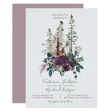 woodland watercolor forest wedding
