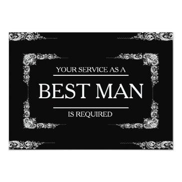 your service is requested as best man groomsman